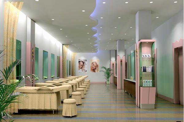 90平米左右的美容店装修效果图