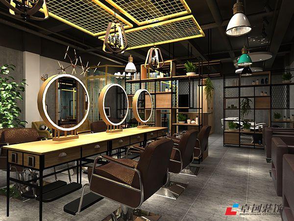 合肥100平方爵士发型社美发店装修设计案例图片