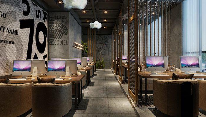 网咖网吧装修设计案例效果图-网吧设计风格参考