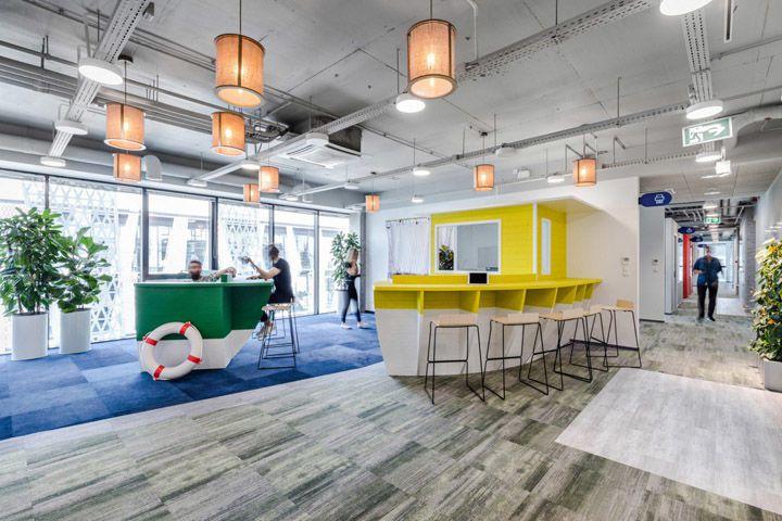 科技公司办公室前台大厅怎样装修才够大气?