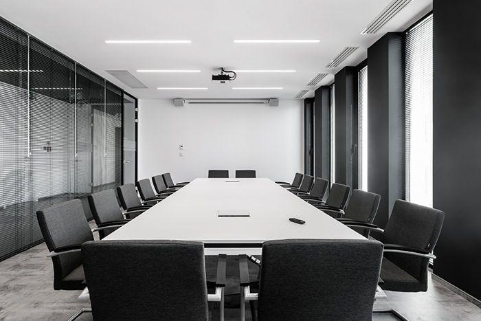 合肥现代简约办公室装修风格会议室设计图图片