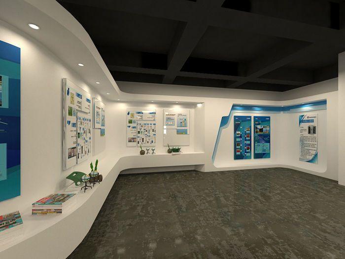 企业展厅装修效果图-办公室展厅设计图片-公司展厅装修设计改造