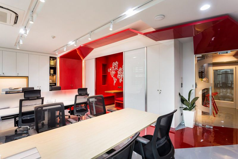 2000平米科技公司办公室装修设计案例