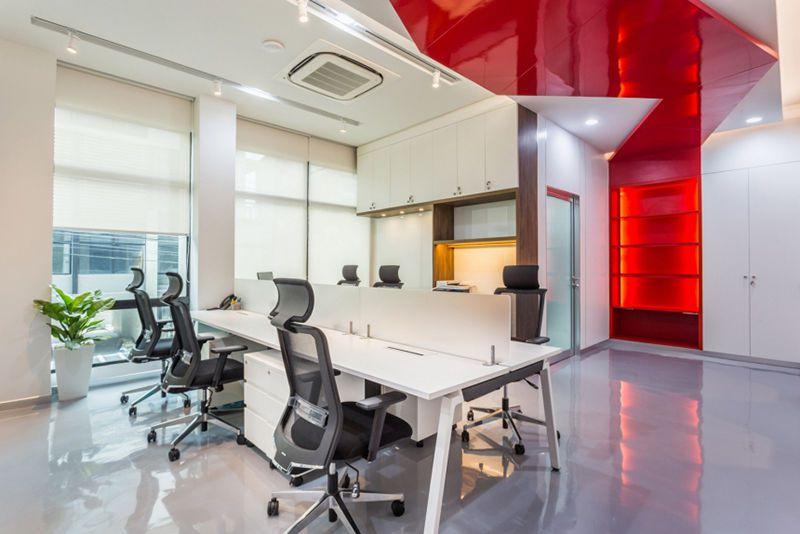 2000平高科技公司办公室设计装修案例详细分析